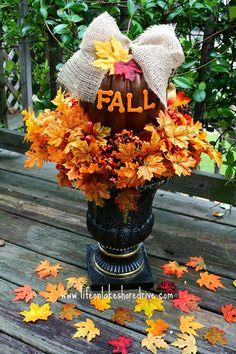 DIY Fall Decor Pumpkin Topiary Tutorial, How to make a fall pumpkin topiary