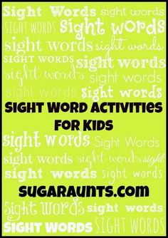 Sugar Aunts: Creative Sight Word Activities for New Readers