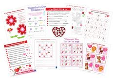 FREE Valentine's printables, games, and cards!