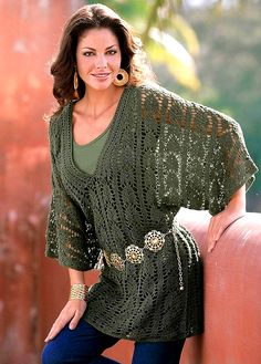 crochet green tunic