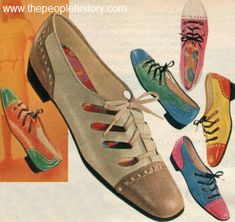 These laceups are adorable. 1968 Two Tone Shoes