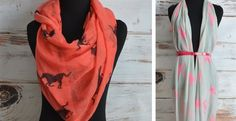 Horse Print Scarves! 4 color options!