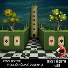 Wonderland Paper 3 - Digital Scrapbooking Kits for the Perfect Digital Scrapbook