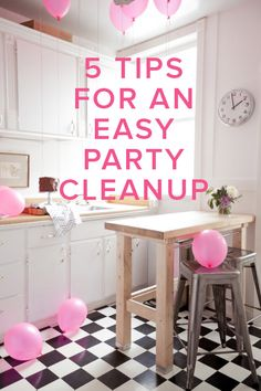 5 tips for an easy party clean up