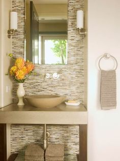 Accent Tile Wall from Floor to Ceiling