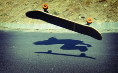 Flying skateboard  #photo