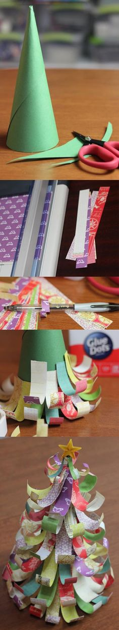 Clean out your paper scraps and create a cute, simple Christmas tree for the holidays! Glue Dots keep Christmas crafts fun, easy and mess-free for the holidays!