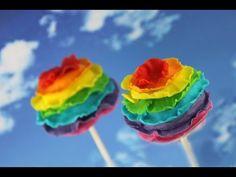 Cakepops! Rainbow Ruffle Cake pop! Learn How To Make Rainbow Pops with Cupcake Addiction
