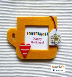 felt Christmas fridge magnet