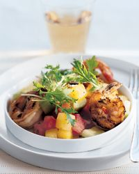 Watermelon Salad with Grilled Shrimp Recipe