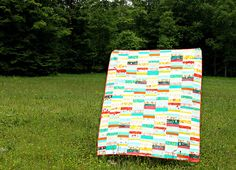 An Endless Summer Quilt : : Plus great link to quilt-as-you-go technique for this and herringbone quilt