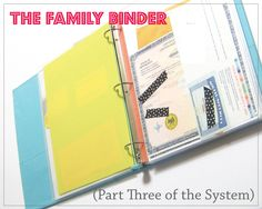 Emergency family binder- good to have handy