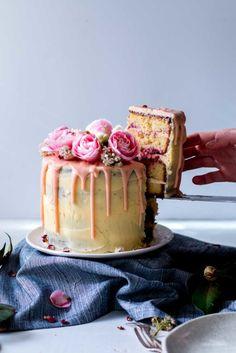 Lemon, Almond & Raspberry Layer Cake - The Brick Kitchen