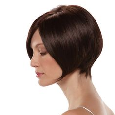 Short, tapered brunette bob // Wigs and Hair Replacement