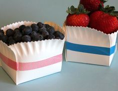 Great container when only a paper plate is available or fancy them up with colored tape or ribbon.