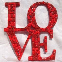 letter, mosaics, colors, craft idea, mint, buttons, jelly beans, valentine gifts, design