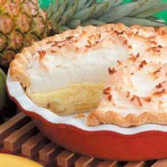 Hawiian Cream Pie Recipe