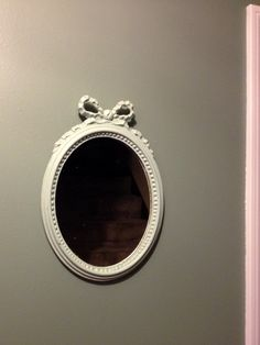 Small Vintage Shabby Chic Oval Mirror. $29.99, via Etsy.