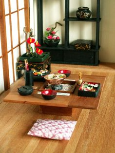 Japanese setting with hibachi 1:12 by Marja Keuker