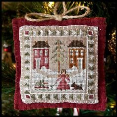 Bringing Home the Tree ~ Ornament #2 ~ Little House Needleworks