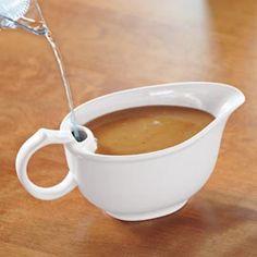 Gravy Warmer Bowl keeps gravy warm on the table.