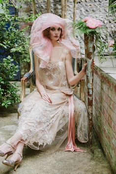 Joanne Fleming Design: 'Maude'....1920s wedding style revisited, and what a hat!
