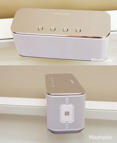 Level Box, a luxury Bluetooth speaker from Samsung's Level Line which includes three headphone models.