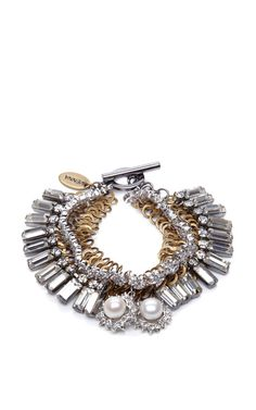 Mixed-Shape Swarovski Crystal Bracelet by Venna