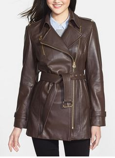 3/4 Length Leather Moto Jacket by Michael Kors http://rstyle.me/n/m9hhdnyg6