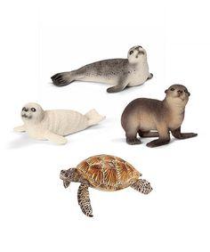 Another great find on #zulily! Sea Life Figurine Set #zulilyfinds