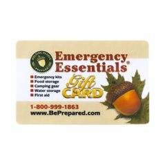 Emergency Essentials Gift Card gift cards, essenti gift
