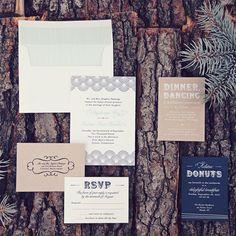 Dot and Flourish Wedding Invitations