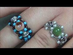 Koleksi Sulaman Manik - Chic Beaded Ring Tutorial - % - http://maribelajarsulamanmanik.com/koleksi-sulaman-manik-chic-beaded-ring-tutorial/