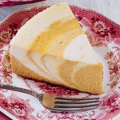 Pumpkin Zebra Cheesecake