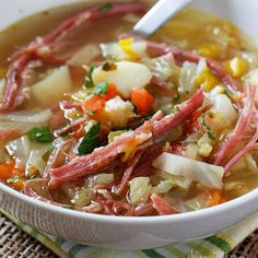 Corned Beef and Cabbage Soup by Skinny Taste