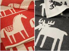 Klippan Horse Cotton Blanket at Remodelista christmas quilt motifs