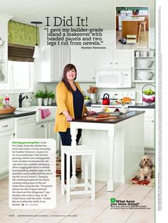 Heather of @At The Picket Fence was featured in our November issue for her fabulous kitchen makeover! Get a behind-the-scenes look at her photo shoot: http://www.bhg.com/blogs/better-homes-and-gardens-style-blog/2012/11/08/behind-the-scenes-of-my-i-did-it-feature-in-bhg/?socsrc=bhgpin110812atthepicketfence