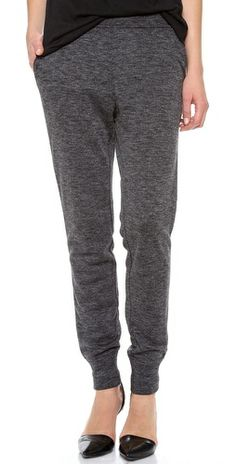 skinny sweatpants for lounging around the house