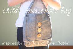 messeng bag, diaper bags, kids bags, messenger bags, rabbits, diy bags, peter rabbit, bag tutorials, sewing tutorials