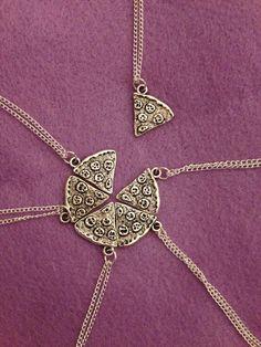 A set of pizza pendants