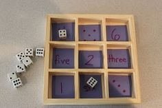 Dice to Number Match     (words and numerals