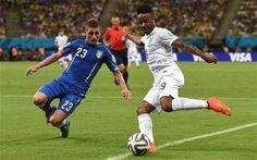Raheem Sterling against Italy #England #ThreeLions #RaheemSterling #WorldCup #Italy #Brazil