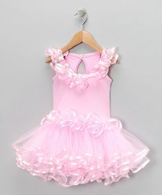 Take a look at this Medium Pink Sequin Skirted Leotard - Toddler & Girls by Pochew by Posh on #zulily today!
