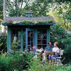 Recycled Treasure- love this shed! #garden #shed