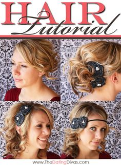 Video tutorials with ideas for styling curled hair. www.TheDatingDivas.com #hair #tutorial #datingdivas