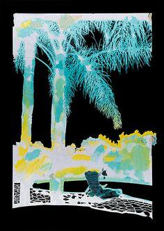 Two Palm Stencil | Paul Davies