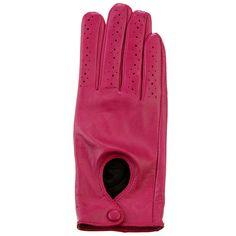 #Bazarchic 7-Gant. Très sport chic, ce gant de conduite en cuir perforé rose. Manque plus que la belle voiture !  #Bazarchic