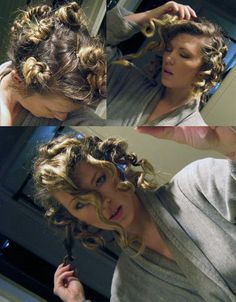 diy tight no-heat curls- Did this on Abigail last night and it worked- the only issue is the parts they leave.