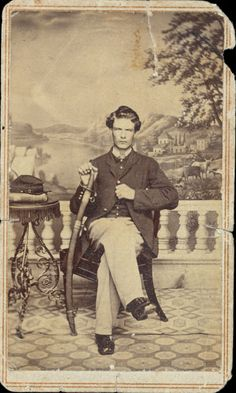 ca. 1864, [carte de visite portrait of Henry O. Nightingale], JNO Holyland Metropolitan Gallery     An abolitionist, Nightingale joined the Northern army at the start of the Civil War in 1861. In 1862 he joined the 108th New York Infantry Regiment. He fought in a dozen battles, including Gettysburg, and was promoted to corporal on March 1, 1864.     via the Online Archives of California, UC Merced Special Collections Library, Henry O. Nightingale Diaries