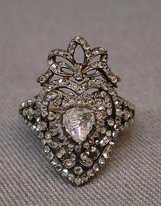19th Century Diamond Ring by C.S., Paris, France